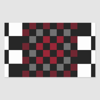 Mod Retro Hipster Checkerboard Rectangular Stickers