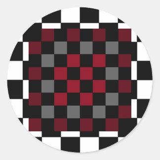 Mod Retro Hipster Checkerboard Sticker