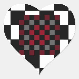 Mod Retro Hipster Checkerboard Stickers