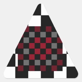 Mod Retro Hipster Checkerboard Triangle Stickers