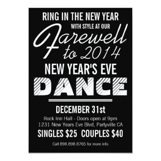 """Mod Retro Style New Years Eve Party Ad 5"""" X 7"""" Invitation Card"""