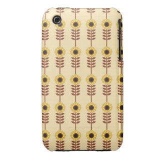 Mod Retro Sunflowers Case-Mate iPhone 3 Cases