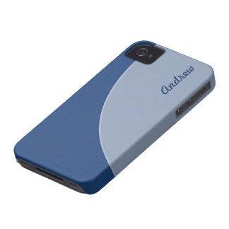 Mod Retro Two Toned Blue Case-Mate iPhone 4 Case