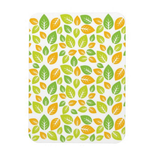 Mod Retro Vintage Fall Trees and Leaves Rectangular Magnets