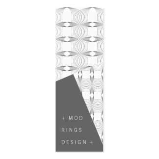 Mod Rings *01 Designer Profile Card Template | Double-Sided Mini Business Cards (Pack Of 20)