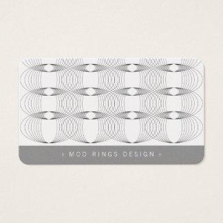 Mod Rings Geometric Pattern Simple Business Card