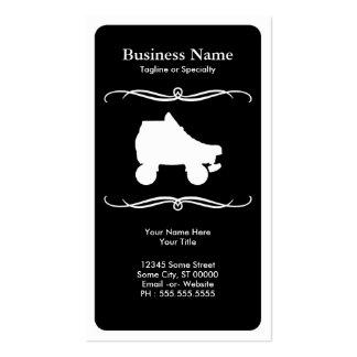 mod roller skate business card