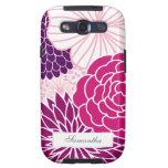 MOD rosada y púrpura floral Galaxy SIII Funda