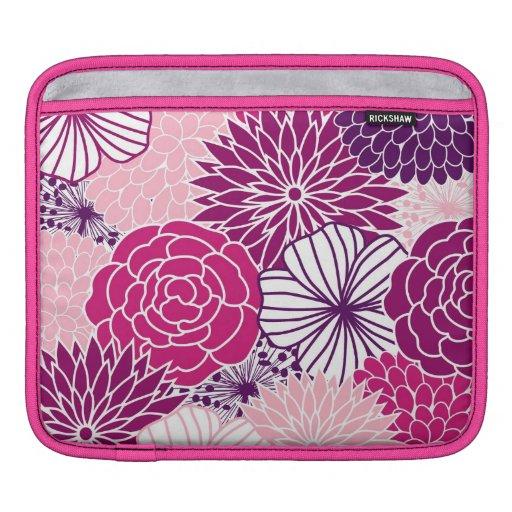 MOD rosada y púrpura floral Mangas De iPad