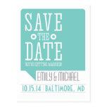 Mod Save The Date Postcard