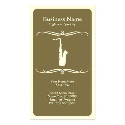 mod saxophone Double-Sided standard business cards (Pack of 100)
