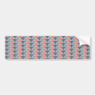 Mod Scallops Bumper Sticker