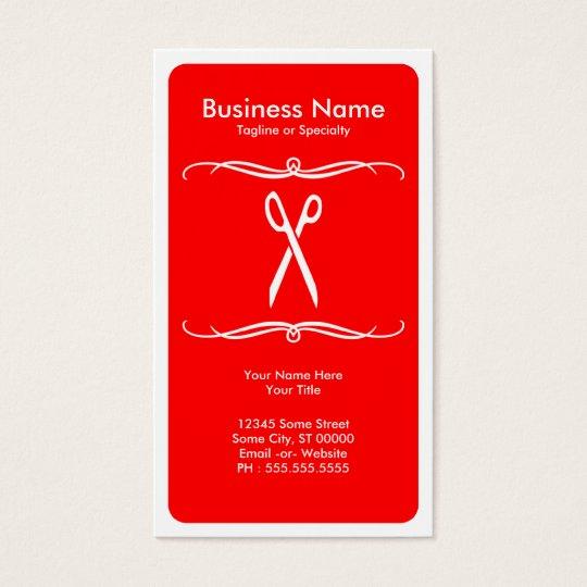 mod scissors business card