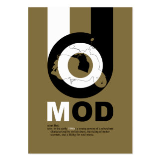 Mod Scooter Bookmark Business Cards