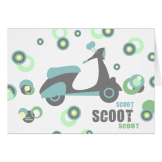 Mod Scooter Card