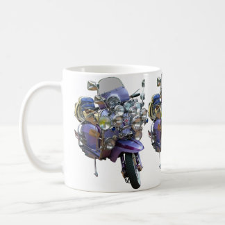 Mod Scooter with Lights and Mirrors Coffee Mug