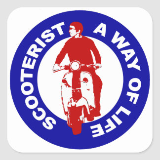 Mod Scooterist A Way Of Life Square stickers