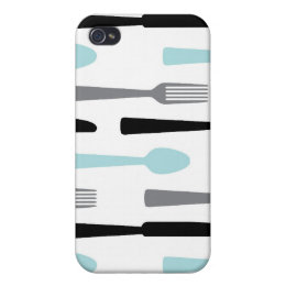 Mod Silverware Pattern iPhone4 Case