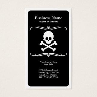 mod skull and crossbones business card
