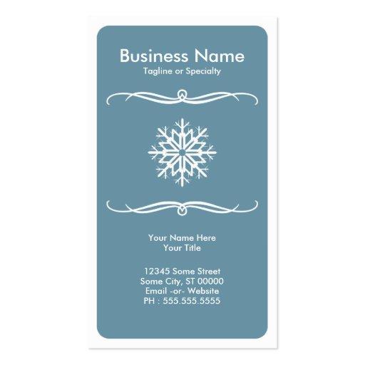 mod snow flake business card