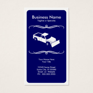 mod snow plow business card