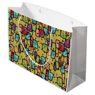 Mod Snowflake Gift Bag Large Gift Bag