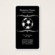 Mod Soccer Business Card at Zazzle