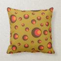 Mod Spheres Throw Pillow