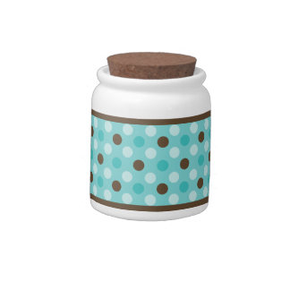Mod Spots Blue-Browns Candy Jar