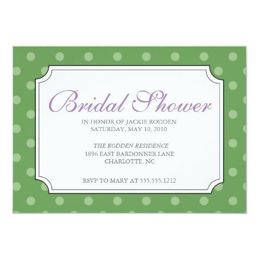 {mod squad} bridal shower 5x7 paper invitation card