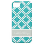 Mod Square Diagonal Trellis Pattern Personalized iPhone 5 Cover