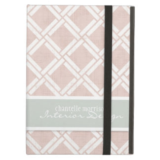 Mod Square Diagonal Trellis Pattern Personalized Case For iPad Air