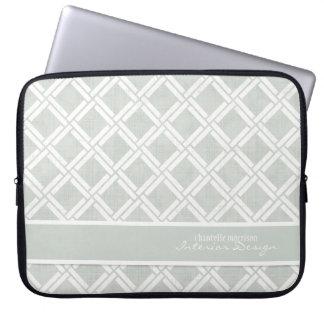 Mod Square Diagonal Trellis Pattern Personalized Computer Sleeve