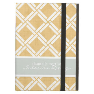 Mod Square Diagonal Trellis Pattern Personalized Cover For iPad Air