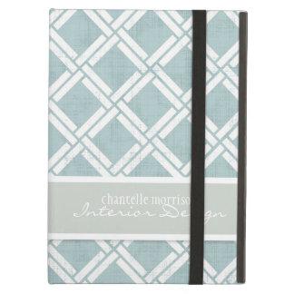 Mod Square Diagonal Trellis Pattern Personalized iPad Air Case