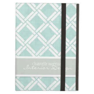 Mod Square Diagonal Trellis Pattern Personalized iPad Air Cover
