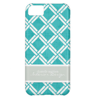 Mod Square Diagonal Trellis Pattern Personalized iPhone 5C Cases