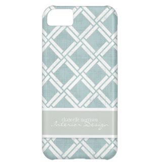 Mod Square Diagonal Trellis Pattern Personalized iPhone 5C Cover