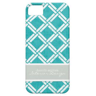 Mod Square Diagonal Trellis Pattern Personalized iPhone SE/5/5s Case