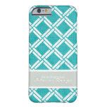 Mod Square Diagonal Trellis Pattern Personalized iPhone 6 Case