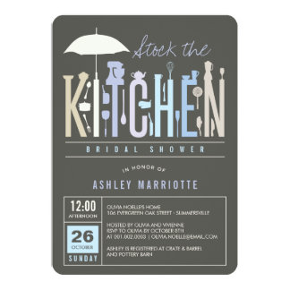 Mod Stock The Kitchen Bridal Shower Party Invite