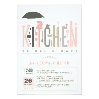 Mod Stock The Kitchen Bridal Shower Party Invite Personalized Announcements