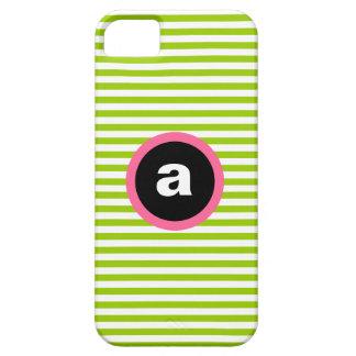 Mod Stripe iPhone 5 5S Case-Mate Case - Green