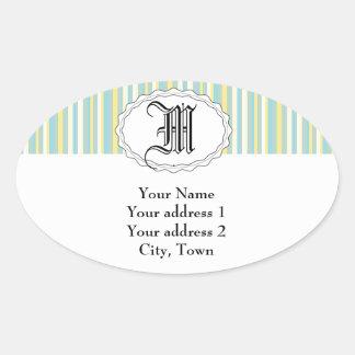 Mod Stripes Oval Sticker