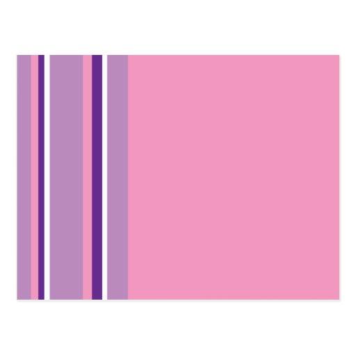Mod Stripes Postcard