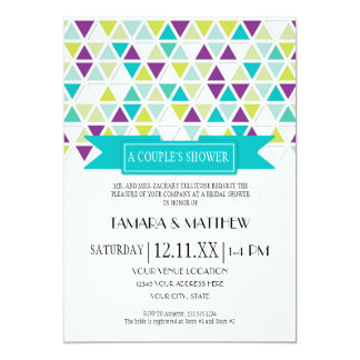 Mod Style Triangle Pattern Triangular Geometric Card