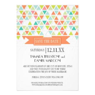 Mod Style Triangle Pattern Triangular Geometric Personalized Invitations