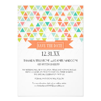 Mod Style Triangle Pattern Triangular Geometric Personalized Announcements