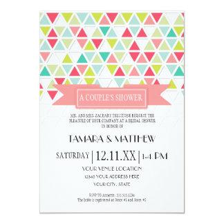 Mod Style Triangle Pattern Triangular Geometric 5x7 Paper Invitation Card