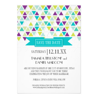 Mod Style Triangle Pattern Triangular Geometric Personalized Invite